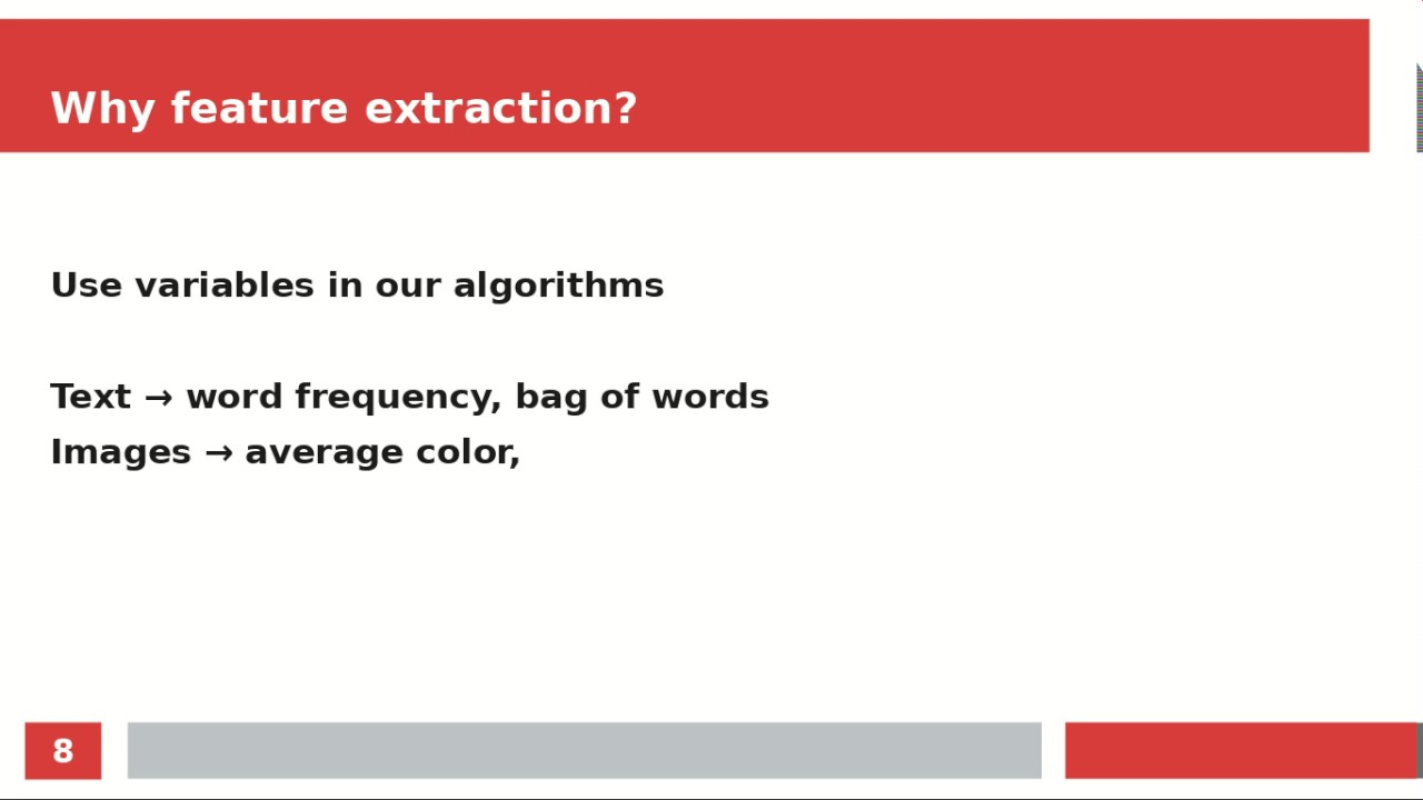 Machine Learning - Feature Extraction