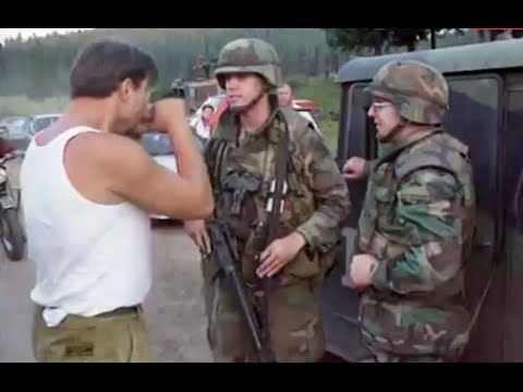 Bosnia SFOR Soldiers and Serbs