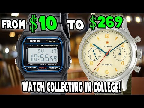 The BEST Watches For College Students On A Tight Budget: From $10 to $269 (10 watches shown)