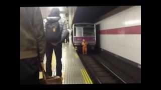 1月17日 田園都市線・桜新町駅 人身事故の電車復旧の様子 scooptoukou.com