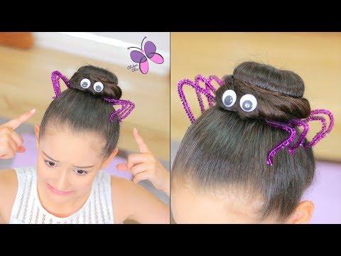 Spider Hairstyle For Halloween | ChikasChicEng