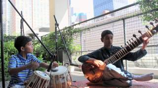 IndianRaga Skyline Series: Rockstar kids play Raga Jhinjhoti on Sitar and Tabla