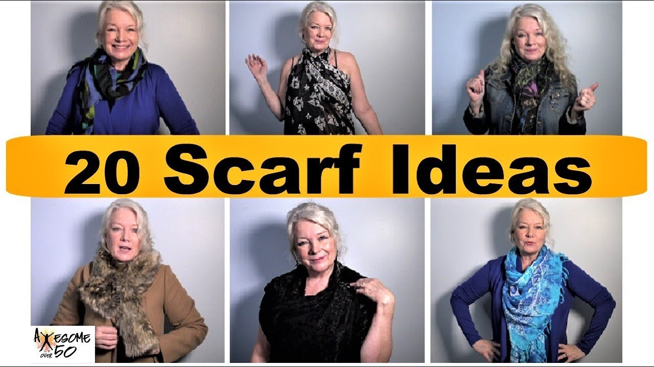 [VIDEO] - My Top 20 Scarf Styles, Ties, Tying, How To Fashion Lookbook of Scarves for Women 8