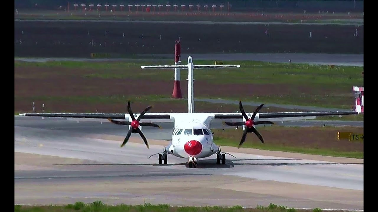Goodbye - Air Lituanica LT 311/ LT 312 ATR 42-500 OY-RUO landing & takeoff  - Berlin Tegel