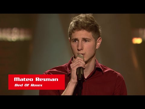 "Mateo Resman: ""Bed Of Roses"" - The Voice Of Croatia - Season1 - Blind Auditions5"