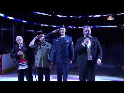 National Anthem at the Chicago Blackhawks - 2017 NHL Playoffs
