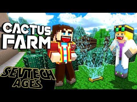 Minecraft: SevTech - CACTUS FARM - Age 5 #7
