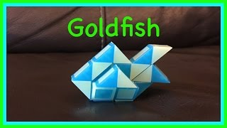 Smiggle Snake Puzzle Or Rubik's Twist Tutorial: How To Make A Goldfish Shape... Step By Step Video