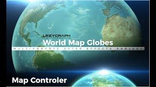 خريطة العالم الكرات ،