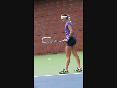 Yaroslava Shvedova Practice at the 2013 Us Open