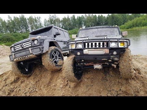 Гелик G500 против Hummer H2 на бездорожье! ... Offroad для Traxxas TRX4 и Vaterra