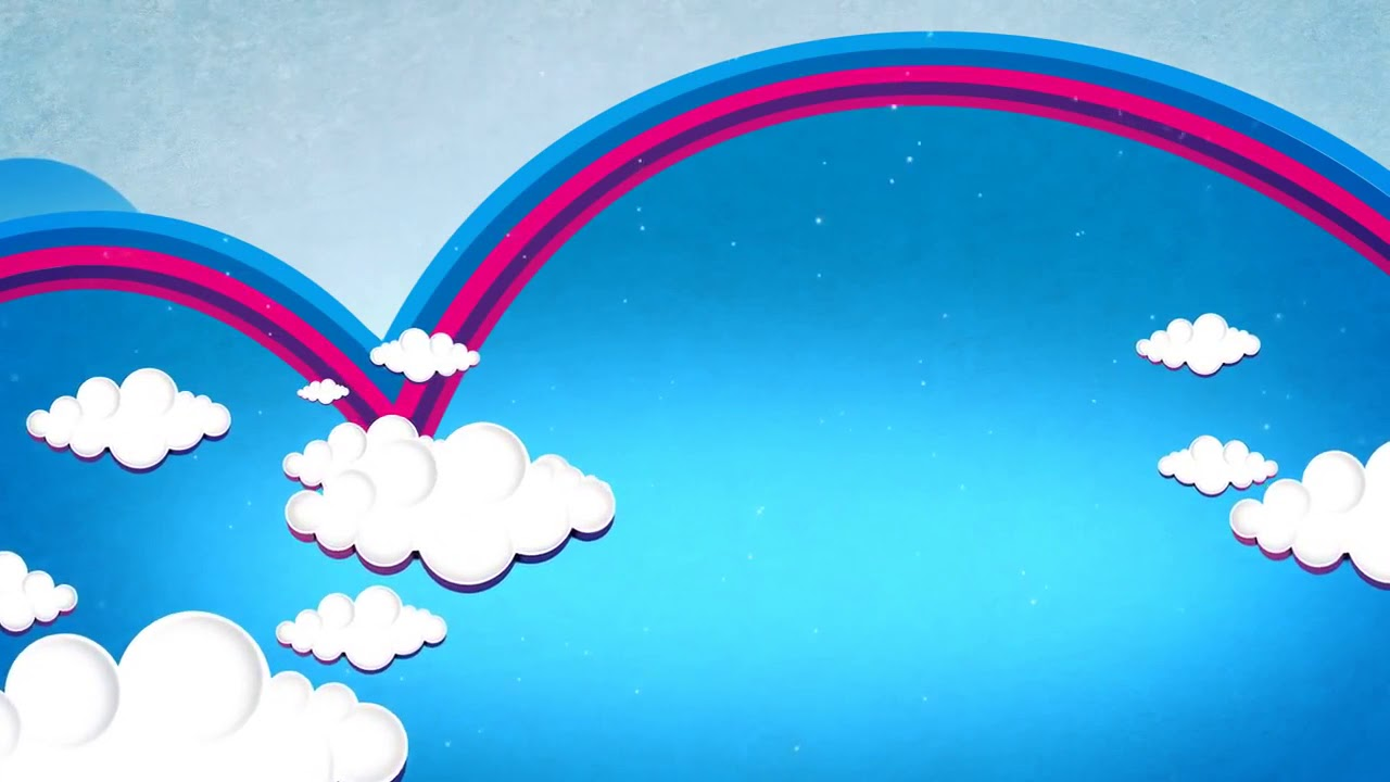 Детский футаж Облака и радуга - YouTube