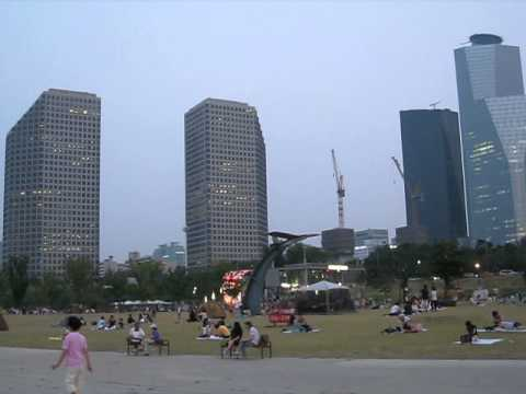 Hangang Park in Seoul's financial district