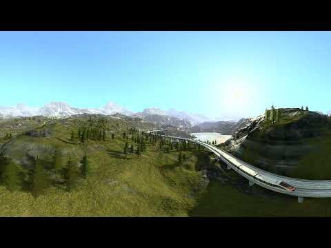 Скоростной поезд 360° 3D 4K TB видео для VR