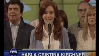 Canal 26 -Bunker Unidad Ciudadana - Discurso Cristina Fernandez