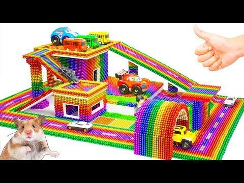 DIY - Garage Shelves - Most Expensive Garage From Magnetic Balls (Satisfying) - Magnet Balls