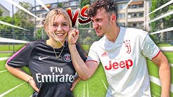 Fußball Battle vs meine Freundin!