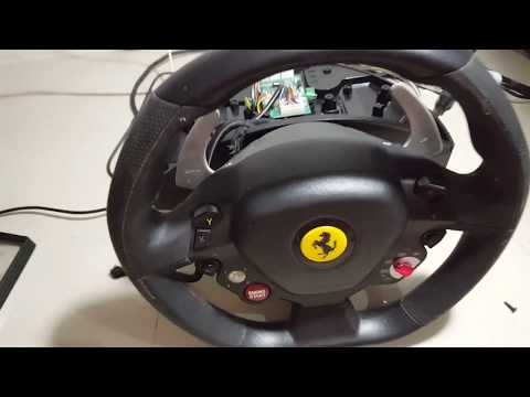 HOW TO FIX A THRUSTMASTER FERRARI STEERING WHEEL FOR XBOX 360 PC AND PS4