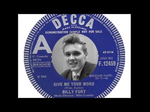 Billy Fury - Give Me Your Word (1966)