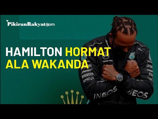 Menangi Grand Prix F-1 Belgia, Lewis Hamilton Dedikasikan untuk Chadwick Boseman