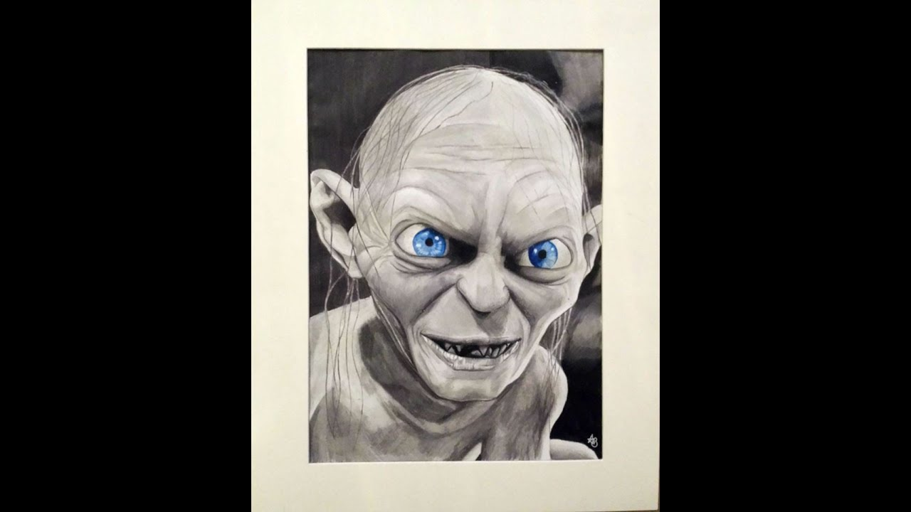 Drawing Of Gollum Lord Of The Rings