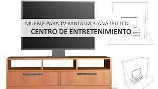 Diseños Construir Mueble Para TV Pantalla Plana LED LCD  Centro De Entretenimiento