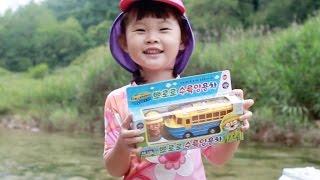 뽀롱뽀롱 뽀로로 수륙양용차 타고 계곡에서 물놀이 Pororo Take a dip in the Valley Amphibious Car おもちゃ,đồ chơi 라임튜브