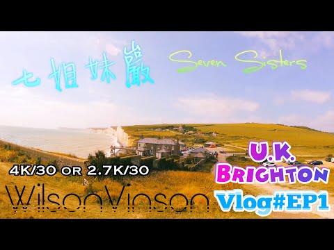 [WilsonVinson] 英國布萊頓的七姐妺巖! U.K. Brighton Seven Sisters Park Vlog#EP1 [4K]