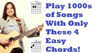 Download Easiest Beginner Guitar Chords - First 4 Chords You NEED To Learn Mp3 and Videos