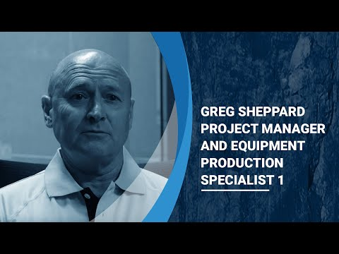 Greg Sheppard   Project Manager and Equipment Production Specialist 1