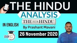 The Hindu Editorial Newspaper Analysis, Current Affairs for UPSC SSC IBPS, 26 November 2020 English screenshot 3