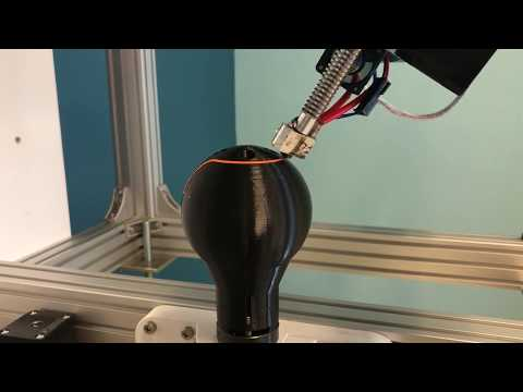 3D printer with 5-axis printing on any surface