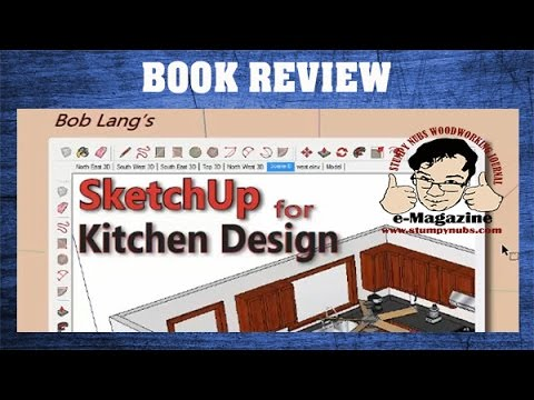 learn to design kitchen cabinets with sketchup- woodworking book