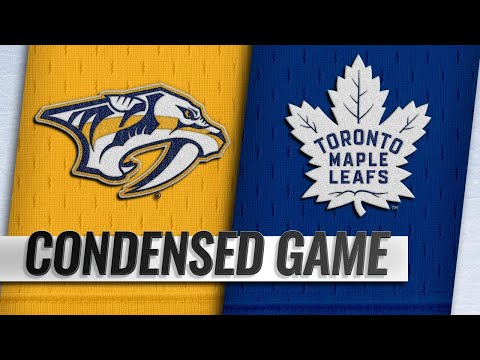 01/07/19 Condensed Game: Predators @ Maple Leafs