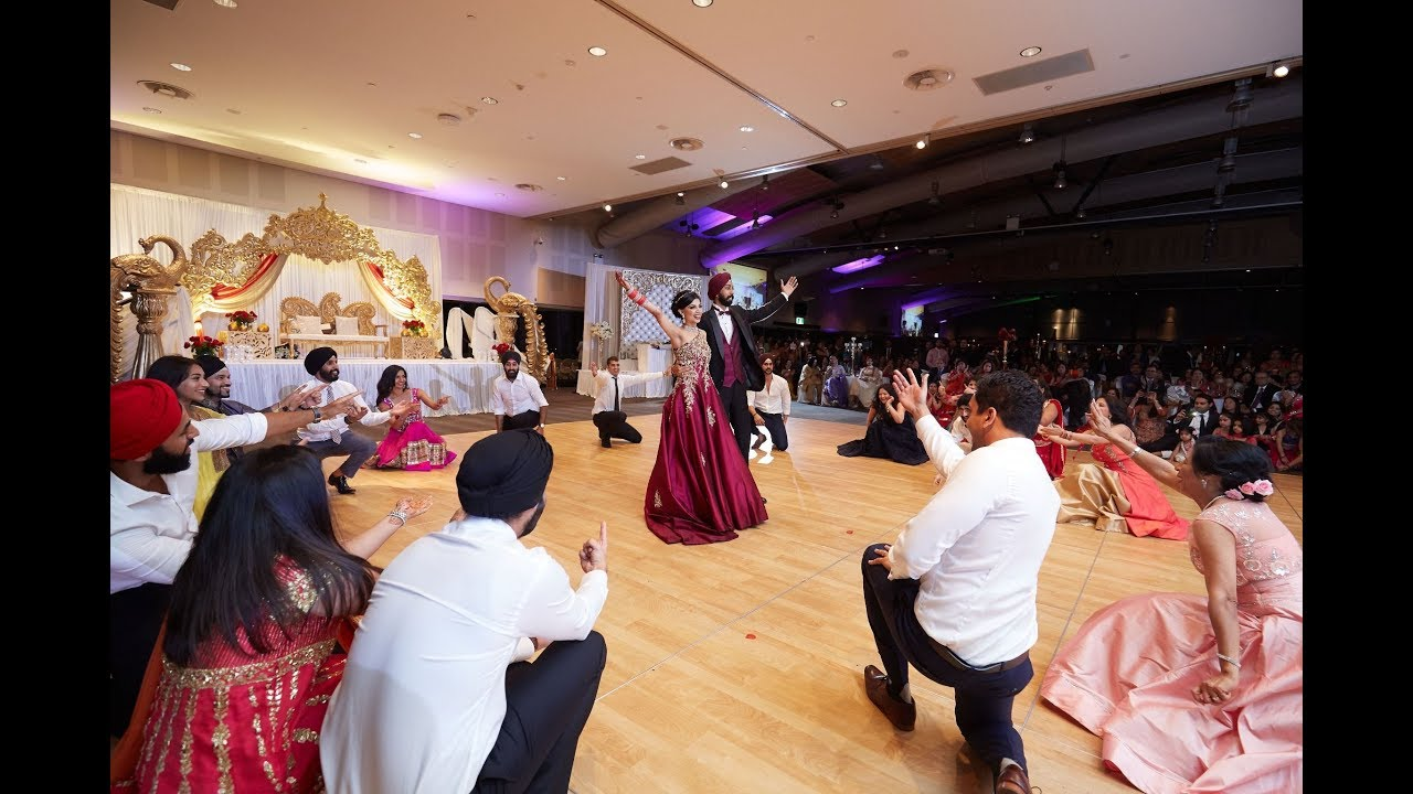 Australias Biggest Indian Wedding Reception Amazing Friends Bollywood Punjabi Group Dance Medley