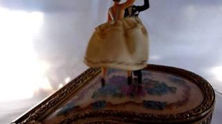 Reuge dancing ballerina on a piano