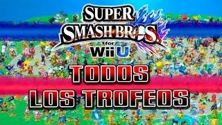 TODOS LOS TROFEOS!! juego completado! - Super Smash Bros. (Wii U)
