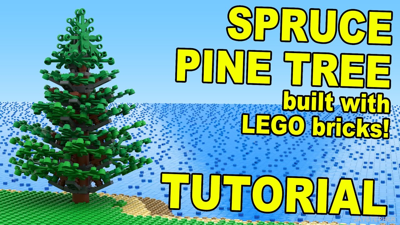 LEGO Pine Spruce Tree How To Tutorial
