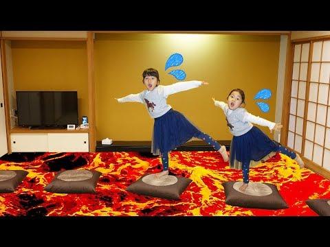 溶岩の神様が怒った~!Floor is Lava☆和室のお部屋から脱出しろ!!謎解きゲーム♪himawari-CH