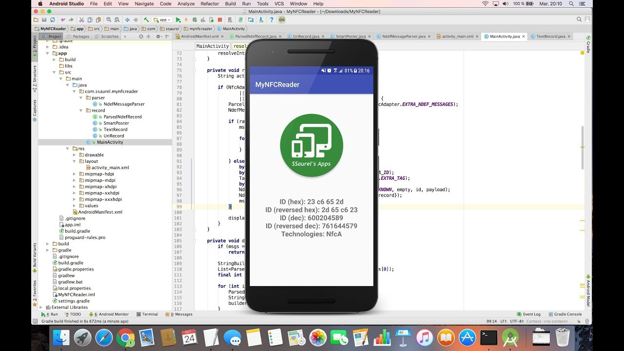 Create a NFC Reader Application for Android