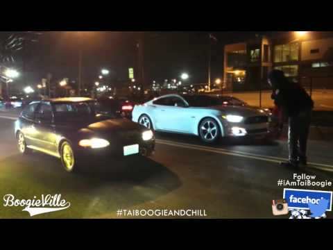 Stock K20 Civic Hatch vs Stock Ford Mustang (submitted)