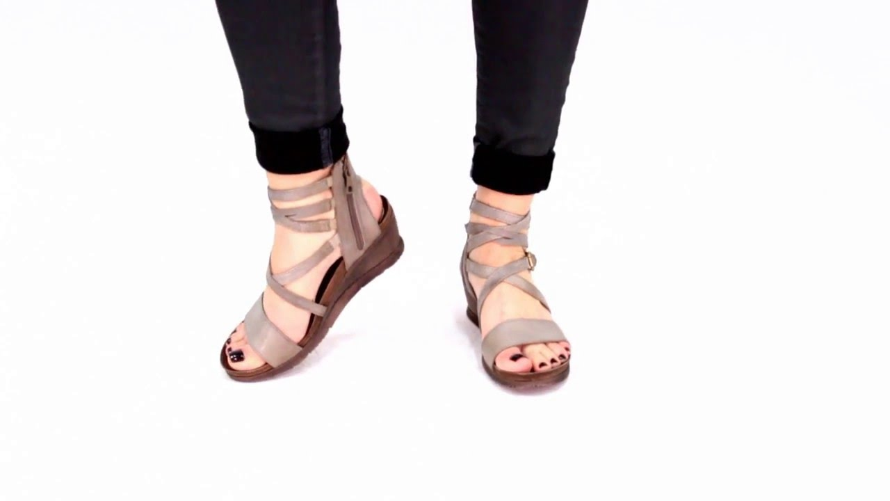 152409a65a6 Miz Mooz Women s Shay Wedge Sandal - YouTube