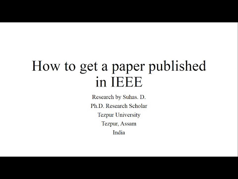 How to Publish a Paper in IEEE 2017