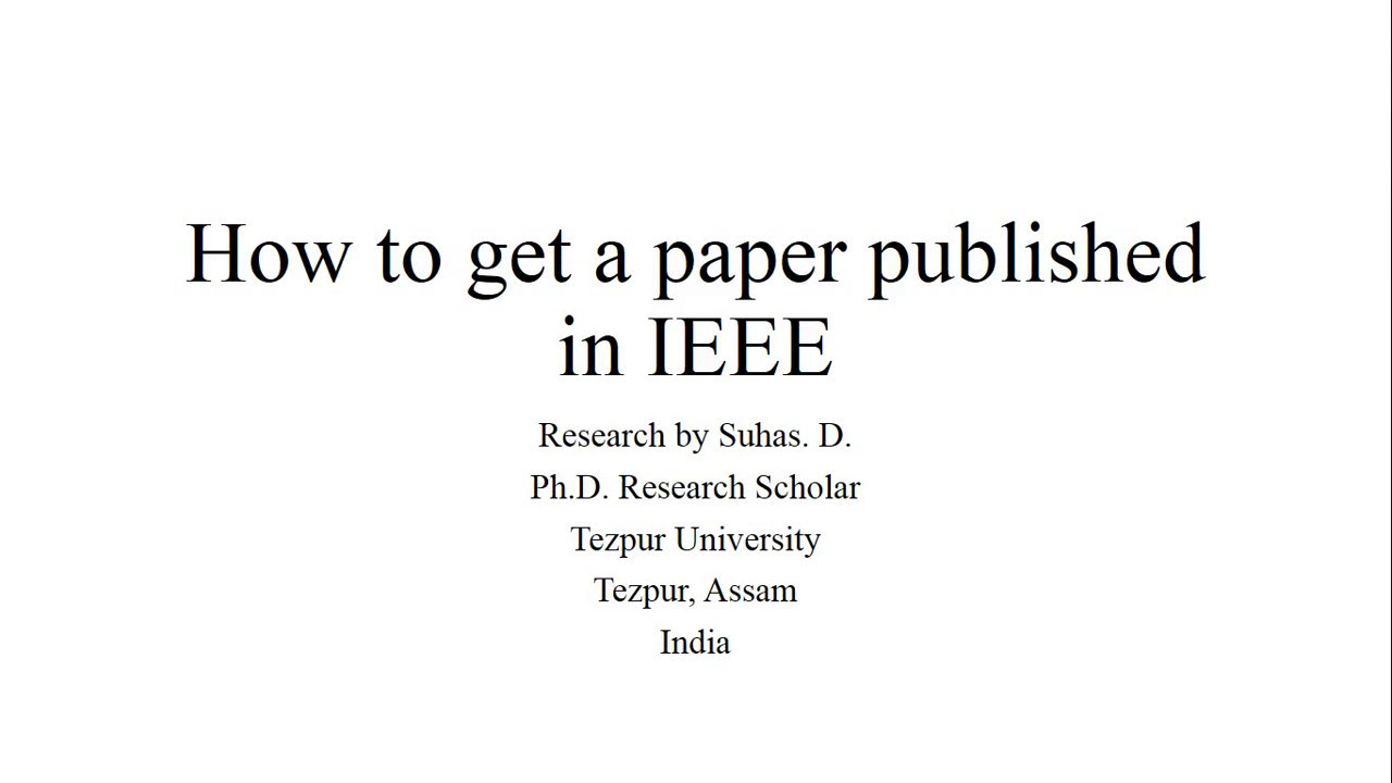 how to write in ieee format
