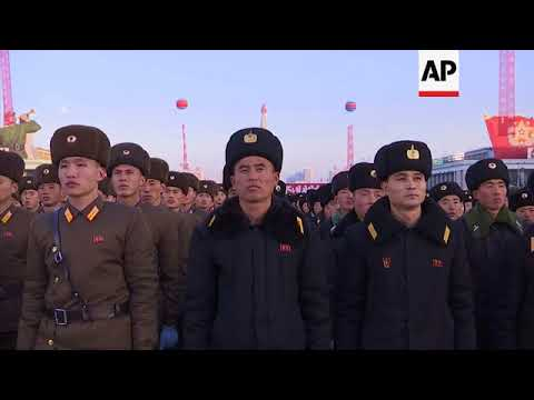 North Koreans in Pyongyang show support for latest missile test