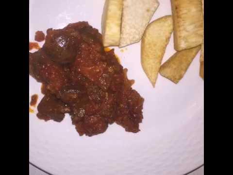 Quick Lunch Idea: Nigerian Dundun and Ata dindin