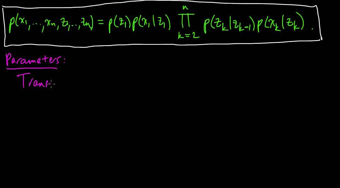 (ML 14 4) Hidden Markov models (HMMs) (part 1)