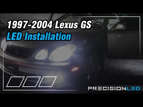 Lexus GS LED Headlights How To Install – 1997-2004
