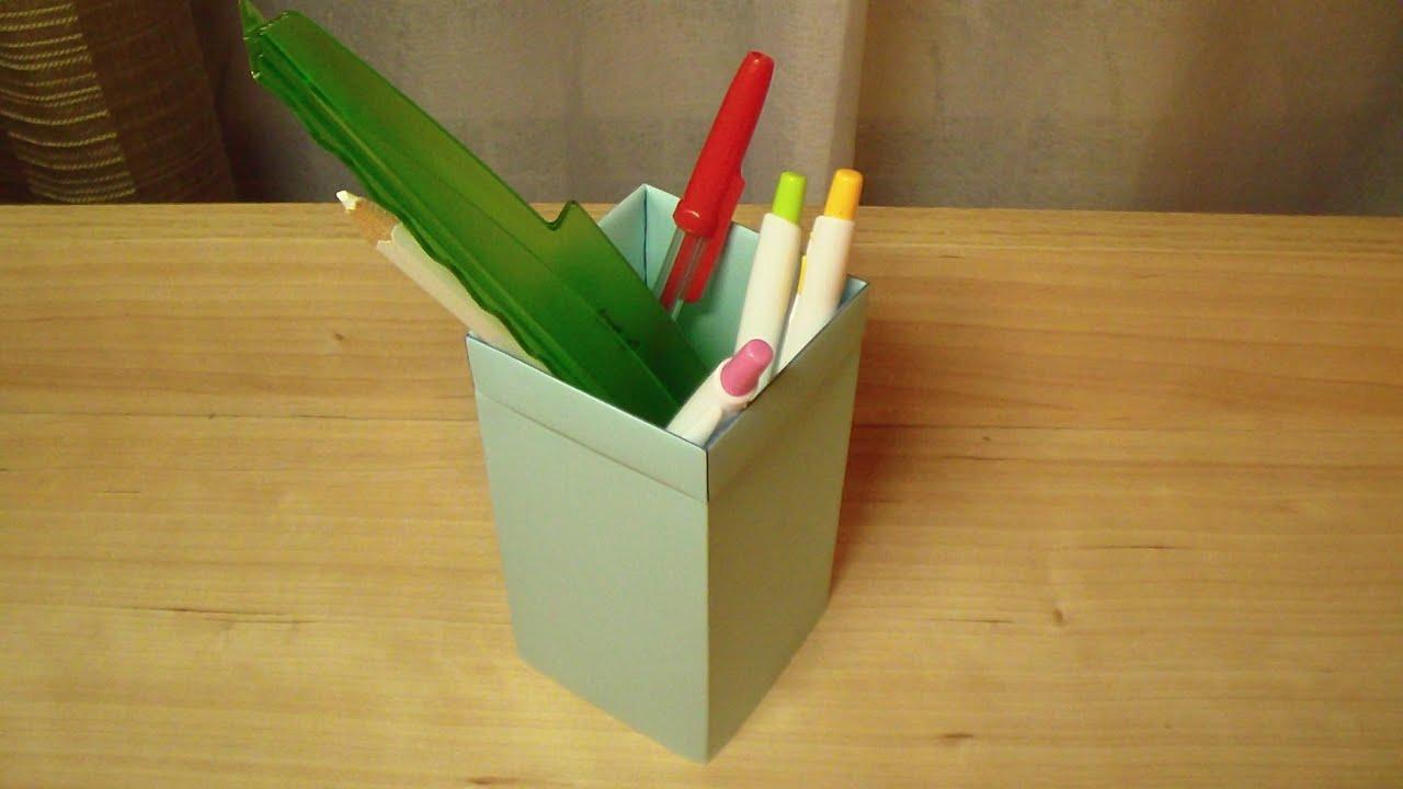 Оригами подставка для ручек