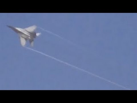 Syria War- Fierce Clearly Visible Low Flight MIG 29 Airstrike On Syrian Rebels